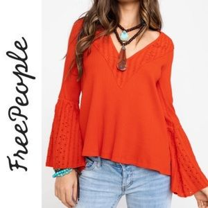 Free People NEW | Parisian nights bell sleeve top